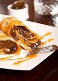 Plum dessert roll Royalty Free Stock Image
