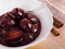 Free Plum Dessert With Cinnamon Royalty Free Stock Images - 27900559