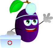 Plum doctor with first aid kit Royalty Free Stock Photos