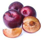 plum Dojrzała śliwkowa owoc na tle obraz stock