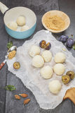Plum Dumplings. Making Plum Dumplings Royalty Free Stock Images