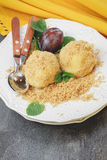 Plum Dumplings Stock Image