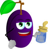 Plum with feeding bottle Stock Photography