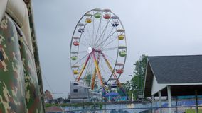 Plum Festival - Ferris Wheel blu fotografia stock
