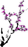 Plum flower. Vector illustration for a artistic plum flower, china art brush painting stock illustration