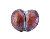 Plum in form of heart Stock Image