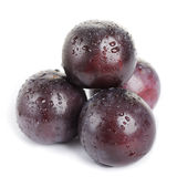 Plum fruit with dew Royalty Free Stock Images