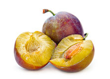 Plum fruit isolated Stock Photo