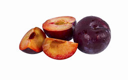Plum fruit isolated Royalty Free Stock Photography