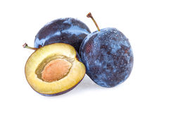 Plum Fruit isolated on white Stock Image