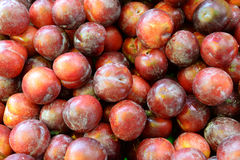 Plum Fruits. Fresh plums background stock photos