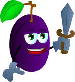 Plum guard with sword Stock Image