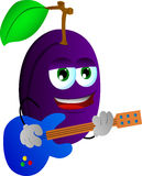 Plum guitar player Royalty Free Stock Photography