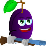 Plum with a gun Stock Images