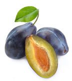 Plum and a half Royalty Free Stock Image