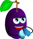 Plum having winter fun Royalty Free Stock Photography