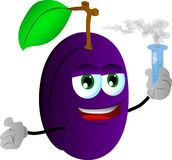 Plum holds beaker of chemicals Stock Photography