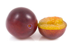Plum on isolated Stock Photography
