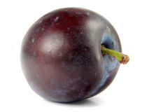 Plum isolated. On white royalty free stock images
