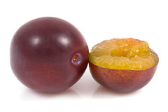 Plum on isolated Stock Image