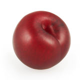 Plum isolated on white. Background with clipping path Royalty Free Stock Photo