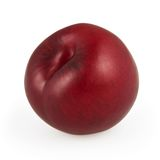 Plum isolated on white Royalty Free Stock Photography