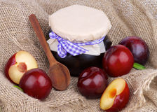 Plum Jam Foto de Stock Royalty Free