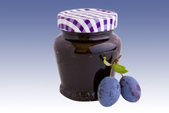 Plum jam with clipping path Stock Photo