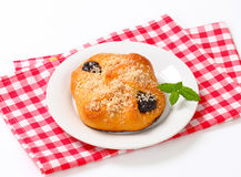 Plum jam filled pastry Stock Images