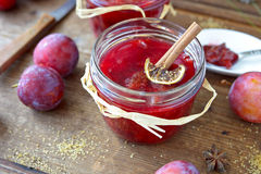 Plum jam Royalty Free Stock Photography