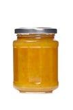 Plum jam glass jar Royalty Free Stock Photo