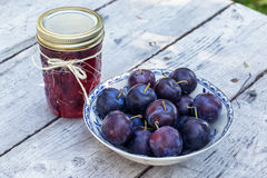 Plum Jam Royalty Free Stock Image