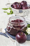 Plum jam Stock Photos