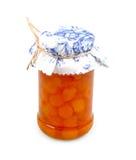 Plum jam in a jar Stock Images
