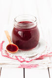 Plum Jam Made in Slow Cooker (Crock Pot, Multicooker) Royalty Free Stock Photo