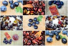 Plum jam. Making jam with fresh and sweet plums Stock Photos