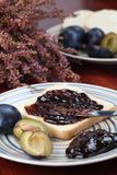 Plum jam sandwich Royalty Free Stock Image