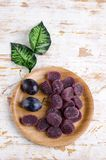 Plum jelly candies royalty free stock photo