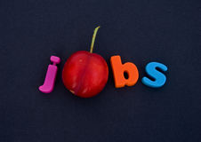 A plum job ! Possible logo. Royalty Free Stock Photos