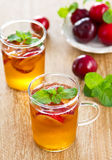 Plum juice Royalty Free Stock Image