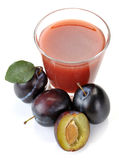 Plum juice and fruit Royalty Free Stock Images
