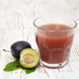 Plum juice Royalty Free Stock Photos