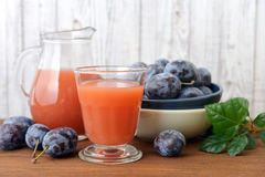 Plum juice Royalty Free Stock Image