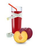 Plum juice and meter Stock Photography