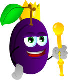 Plum king Royalty Free Stock Photo