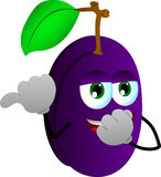 Plum laughing and pointing Royalty Free Stock Photo