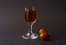 Plum liqueur - brandy Stock Photography