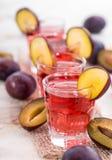Plum Liqueur Shots Stock Image