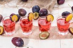Plum Liqueur Shots Royalty Free Stock Photography