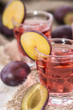 Plum Liqueur Royalty Free Stock Photos